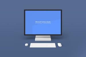 微软一体机Surface Studio样机模板v2 Microsoft Surface Studio Mockups v.2 – Photoshop插图2