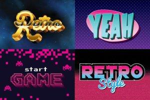 80年代复古文本图层样式 80's Retro Graphic Styles插图4