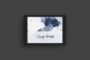 iPad平板电脑屏幕演示俯视图样机04 Clay iPad 9.7 Mockup 04插图3