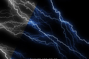 50款雷电闪电光线PS笔刷 50 Lightning Photoshop Brushes插图8