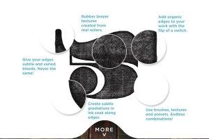 橡胶墨辊印刷效果图层样式 Analog Ink Foundry – PSD Print Kit插图4