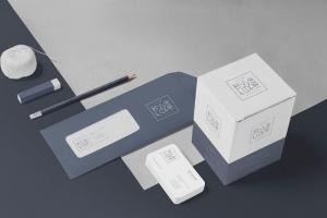 6款企业品牌VI设计展示信封&信纸样机模板 6 Envelope & Letter Mockups插图4
