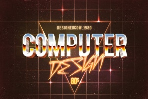 80年代复古风格文本特效文字样式v1 80's Style Text Mockups V1插图15