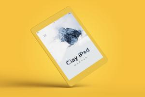 iPad平板电脑UI界面设计黏土样机06 Clay iPad 9.7 Mockup 06插图2