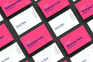 英国标准尺寸企业名片设计样机03 UK Business Cards Mockup 03插图3
