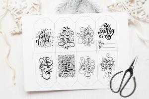 圣诞节礼物标签矢量设计图形素材 Christmas Gift Tags插图4
