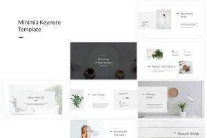 简约优雅设计风格Keynote演示文稿模板 Minimia – Keynote Template插图1