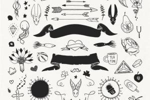 手绘装饰设计元素工具包[手绘图案+水彩样式+图形] The Hip Decorative Toolkit插图6