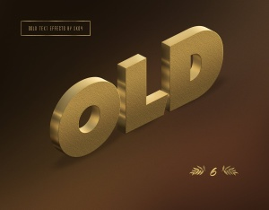 3D金色金属文本文字特效PSD分层模板 3D Gold Text Effects – 10 PSD插图6