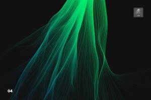 数码仿真柔顺头发特效图案PS笔刷 Digital Smooth Flow of Hairs Photoshop Brushes插图5
