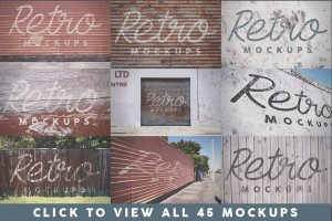 45款新西兰取景复古Logo&字体样机模板 45 Retro Mockups (+BONUS)插图2