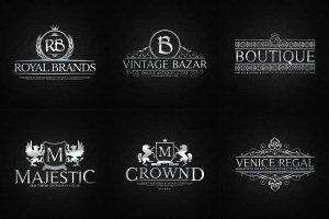 金属感纹章徽章Logo模板 Vol.2 Heraldic Crest Logos Vol.2插图2