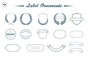 装饰标签矢量图形素材下载 Label Ornaments插图(2)