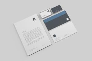 高品质的简约商务办公文具提案VI样机展示模型mockups插图5