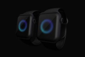 Apple Watch 4智能手表屏幕演示样机模板03 Clay Apple Watch Series 4 (44mm) Mockup 03插图3