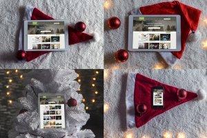 8款圣诞节主题&iPad样机模板 8 Christmas Mac & Ipad Mock-ups插图3