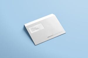 公司/企业信封设计样机模板 Envelope C5 / C6 Mock-up插图4