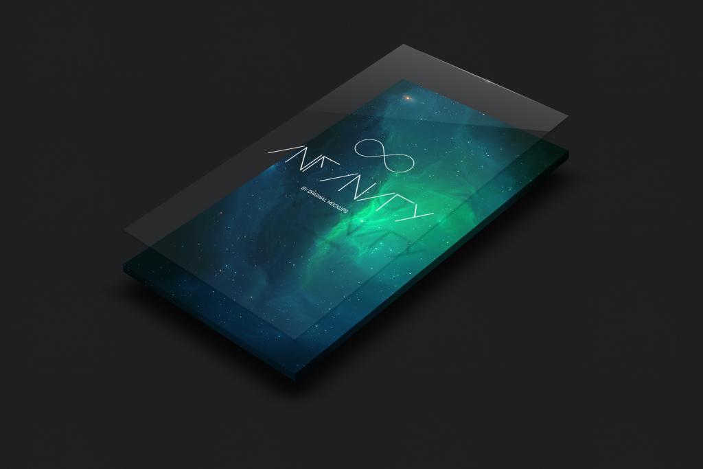 UI界面设计案例预览样机模板2 UI Display Mockup 2插图