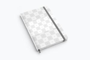 A5精装笔记本/记事本外观设计样机模板01 A5 Hardcover Notebook Mockup 01插图5