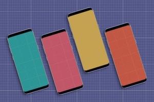 三星智能手机S9应用程序演示设备样机 S9 Mockup插图10