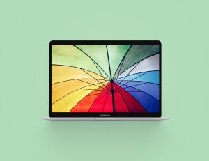 MacBook 2019版本Web网站设计案例展示样机 Macbook Air 2019 Mockup插图2