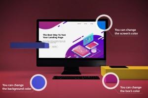 一体机电脑iMac Pro屏幕演示样机模板v2 iMac Pro Mockup V.2插图2