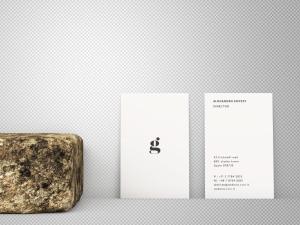 竖版设计企业名片正背面效果图样机 Vertical Business Card Mockup – Front & Back插图2