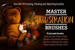 15种风格独特的Procreate笔刷套装插图1