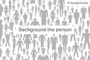 一组15个人物图案背景素材 Background the person插图1