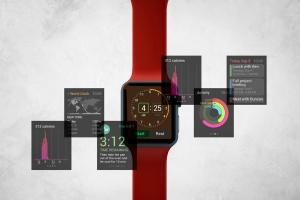 Apple智能手表APP设计展示设备样机V.3 Apple Watch Mockup V.3插图1