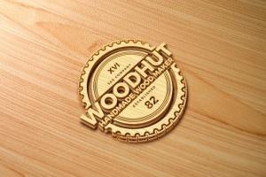 精致木纹浮雕logo样机模板 Wood Logo Mockups插图6