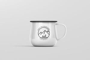 高分辨率圆形珐琅杯子样机 Round Enamel Mug Mockup插图8