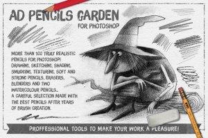 超级ps铅笔笔刷大合集 The Pencils Garden插图1