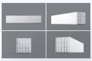 40英尺集装箱外观图案设计样机模板 40ft Dry Van Container Mock-up插图3