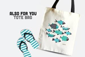 手绘鱼图案矢量图形设计素材 Fishes插图2
