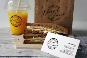 咖啡馆品牌VI设计样机模板 Sandwich Cafe Mockup插图1