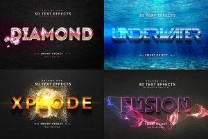 一流设计素材网下午茶:150款3D文字效果的PS图层样式 150 3D Text Effects for Photoshop–2.61 GB插图28