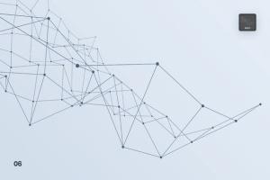 带连接线粒子抽象图形PS笔刷 Particles with Connected Lines Photoshop Brushes插图7