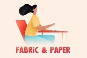 28种织物和纸张肌理纹理Procreate笔刷 Fabric & Paper Procreate Brushes插图(2)