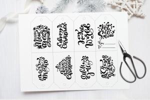 圣诞节礼物标签矢量设计图形素材 Christmas Gift Tags插图8