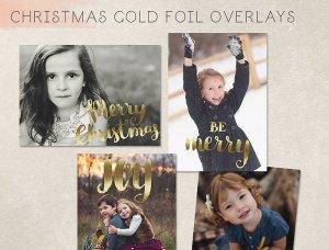 一套精美的手绘圣诞金箔字母装饰素材  Christmas Gold Foil Lettering插图3