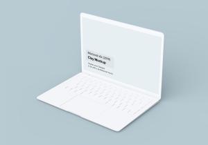 2019款MacBook Air超极本屏幕预览样机模板 Clay Macbook Air Mockup 1.0插图4