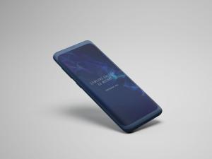 三星S9手机屏幕设计预览样机 Samsung S9 Phone Mockup插图1
