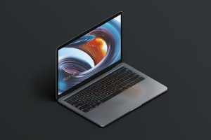MacBook Pro等距创意样机模板 Macbook PRO Isometric Creative Mockup插图6