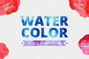 水彩艺术效果AI图层样式 Watercolor for Illustrator插图1