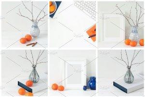 冬天简约风格办公场景背景 Tangerine Winter Bundle插图2