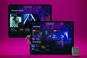 音乐APP界面设计效果图iPad Pro平板电脑样机模板 iPad Pro Music App插图5