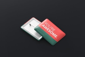 矩形徽章扣子样机模板 Rectangle Badge Button Mockup插图10