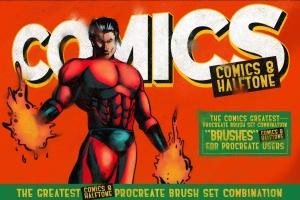 漫画和半色调Procreate笔刷 Comics & Halftone: Procreate Brushes插图6
