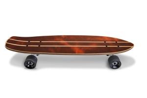 滑板顶部设计正面预览图样机02 Skate_Board-02_Mockup插图2